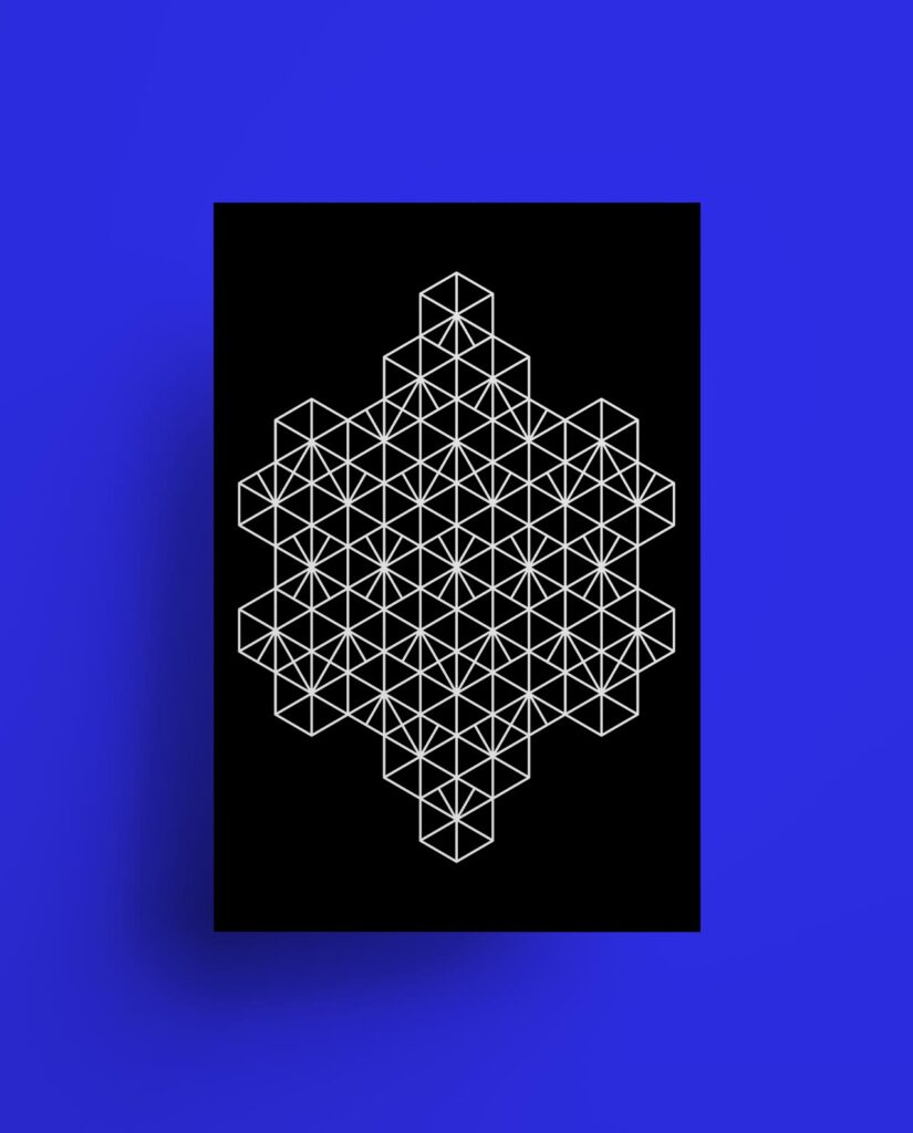 Developing a limited-edition series of typographical and geometric prints